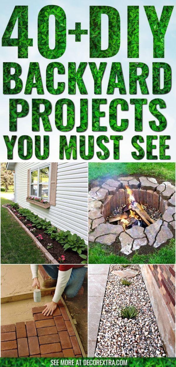 Diy Backyard Ideas And Projects Easy Backyard Do It Yourself Ideas Garden Diy Diy Garden Backy Diy Backyard Landscaping Diy Backyard Backyard Diy Projects
