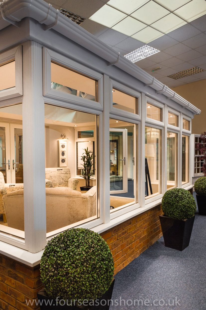 Home Additions Sunroom Decorating Four Seasons Room: Contemporary Orangery On Display In Our Exeter Showroom.