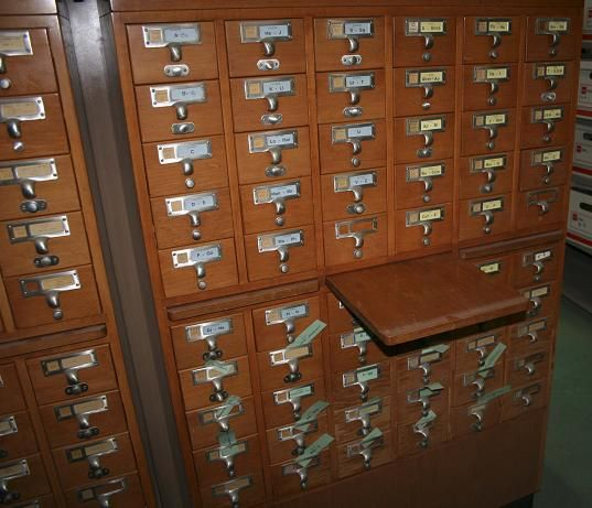 vintage library card catalog - Google Search | Old Card File ...