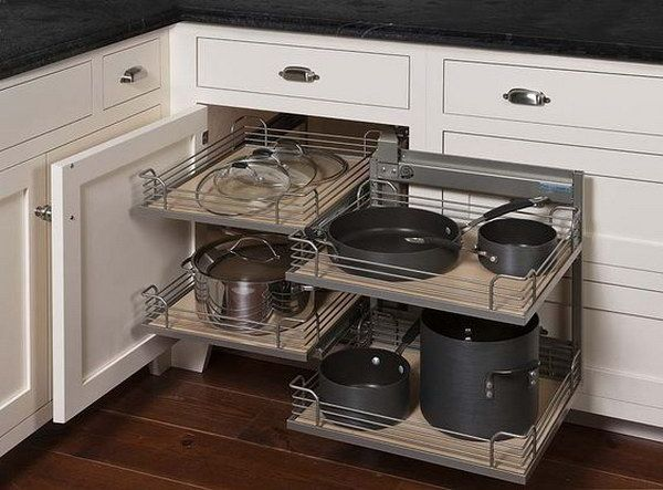 Magic Cabinet System For A Corner Corner Kitchen Cabinet