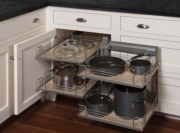 Magic Cabinet System For A Corner Corner Kitchen Cabinet