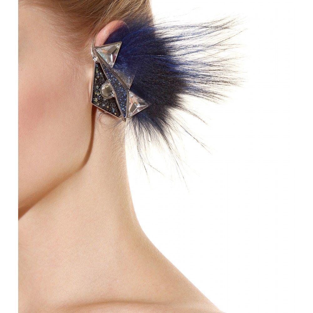 BAGSESSED - Home - Fendi - Fox Fur Ear Cuff and Crystal Fur MonsterCharms