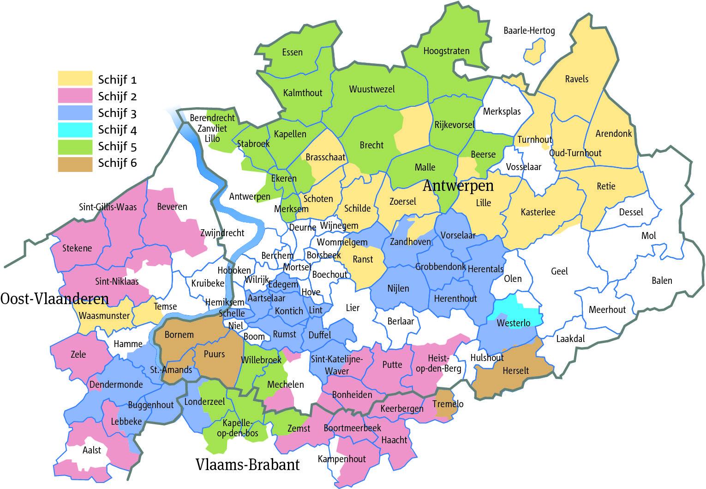 Kaart Gemeenten Provincie Antwerpen Doormelle Kaarten Antwerpen