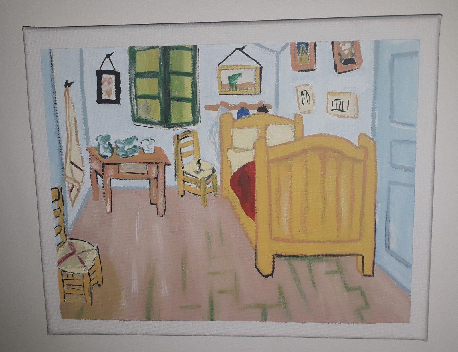 Habitacion De Arles Cuadro Originales Cuadros Pintar