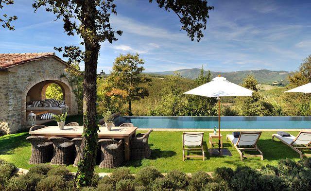 a pool side Italian retreat