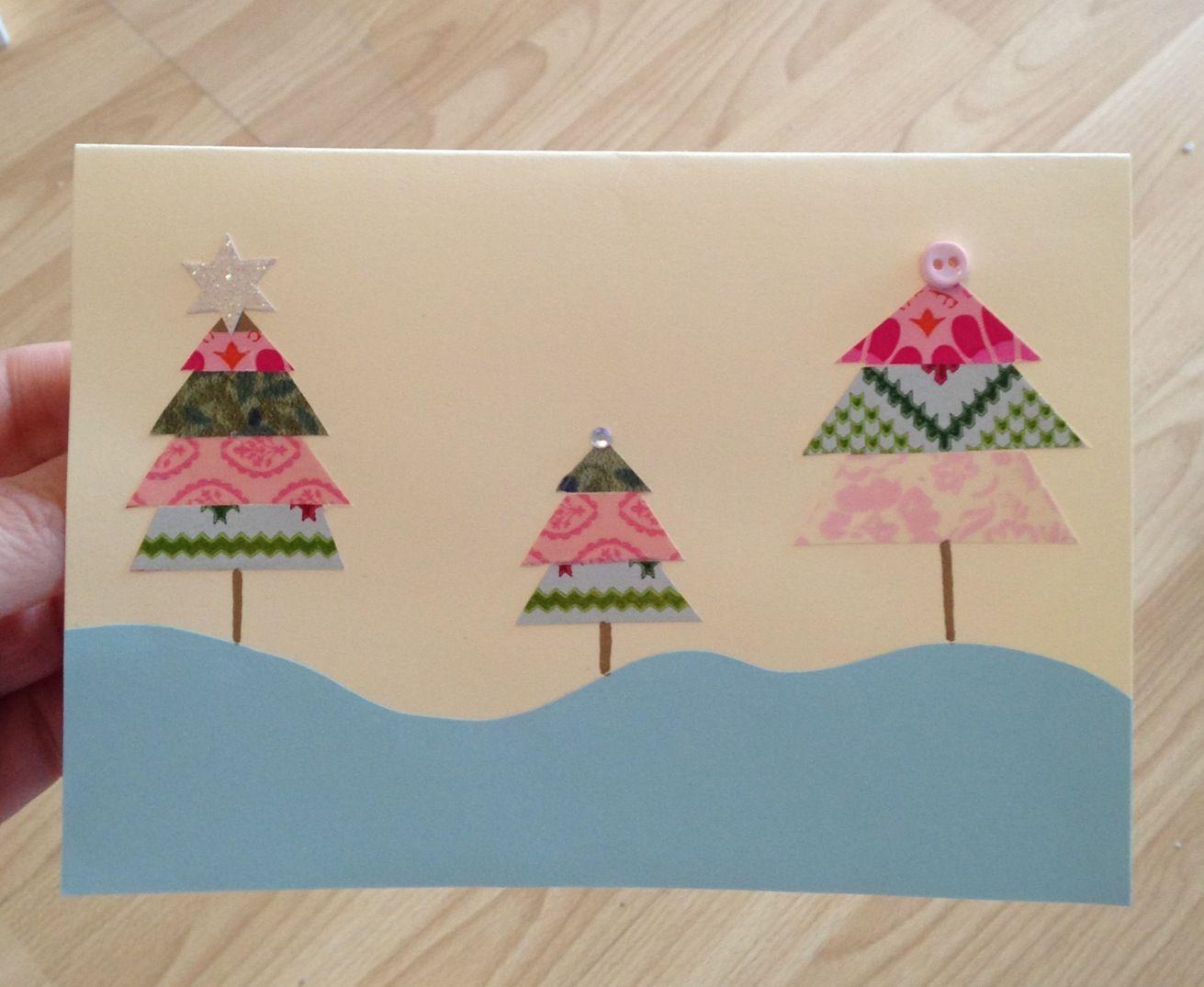 washi tape xmas card made by meeee weihnachtskarten. Black Bedroom Furniture Sets. Home Design Ideas
