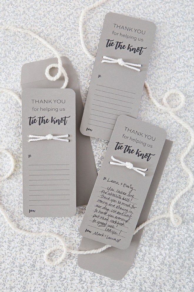 printable bridal registry list%0A These DIY   Tie The Knot   Wedding Thank You Cards Are The Cutest    Free  printable  Filing and Tutorials