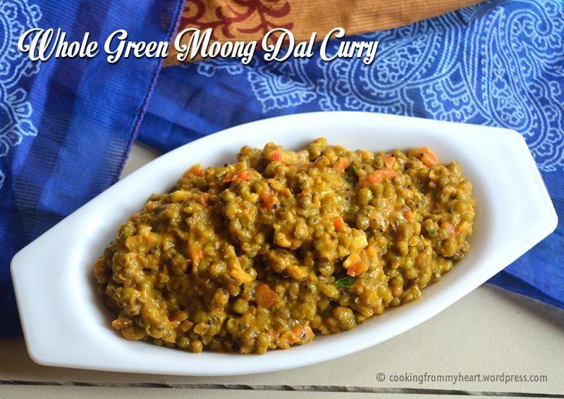 Whole Green Gram Curry Pachai Payaru Kuzhambu Pesara Pappu Curry Cooking Vegetarian Protein