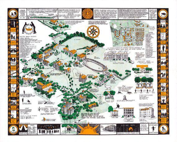 Syracuse University Map New York Dorm Decor Graduate Graduation Gift