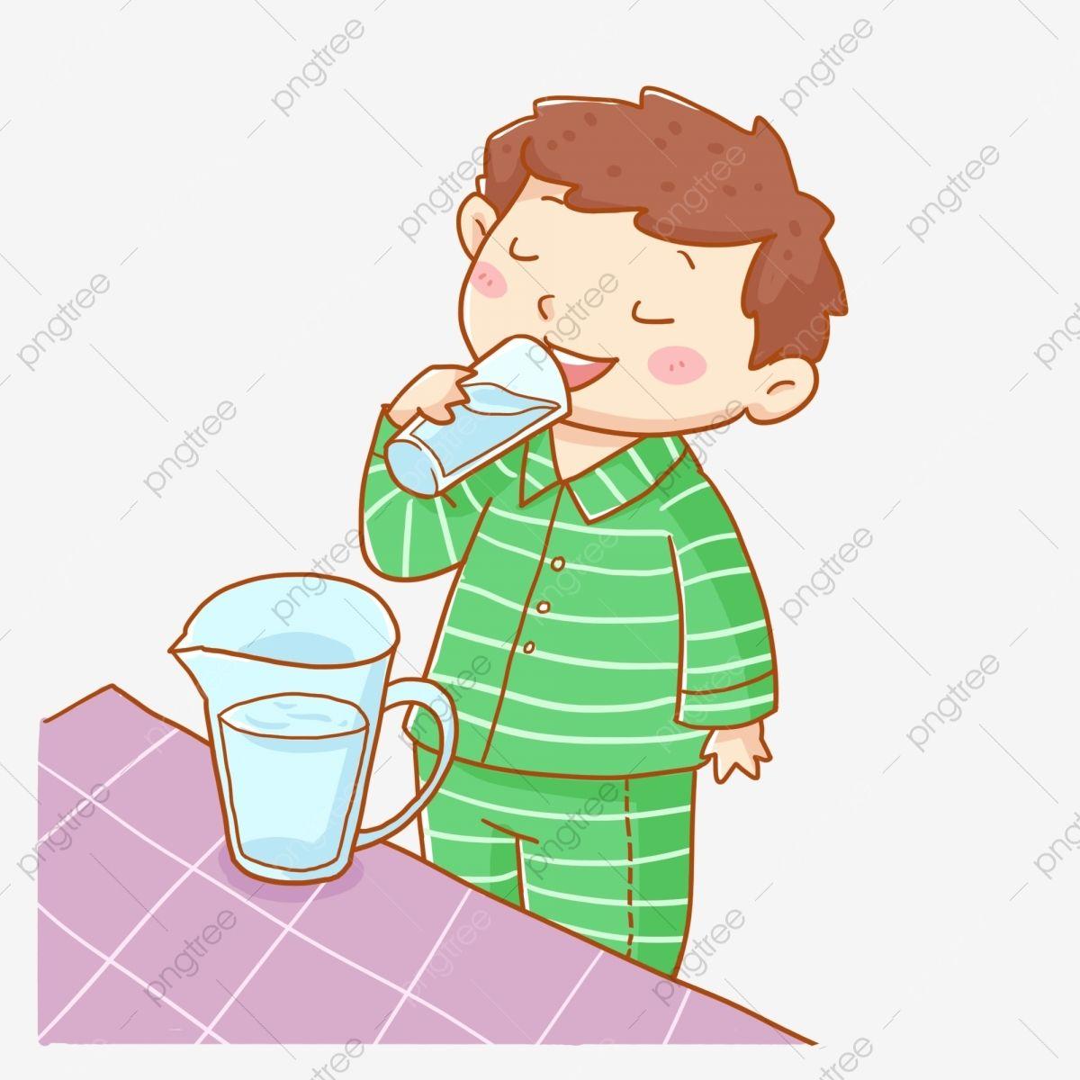 Drink Water Clipart Kid Drinks Cartoon Kids Health Drinks Water