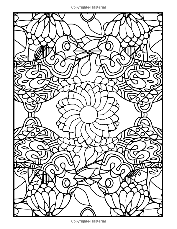 amazoncom coloring books for grownups feather feastival mandalas geometric shapes coloring - Art Therapy Coloring Pages Mandala