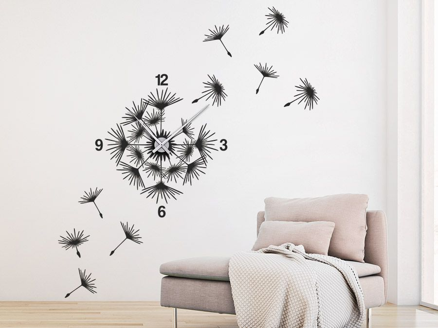 Uhr Pusteblume mit Samen Wanduhr - wanduhr design wohnzimmer