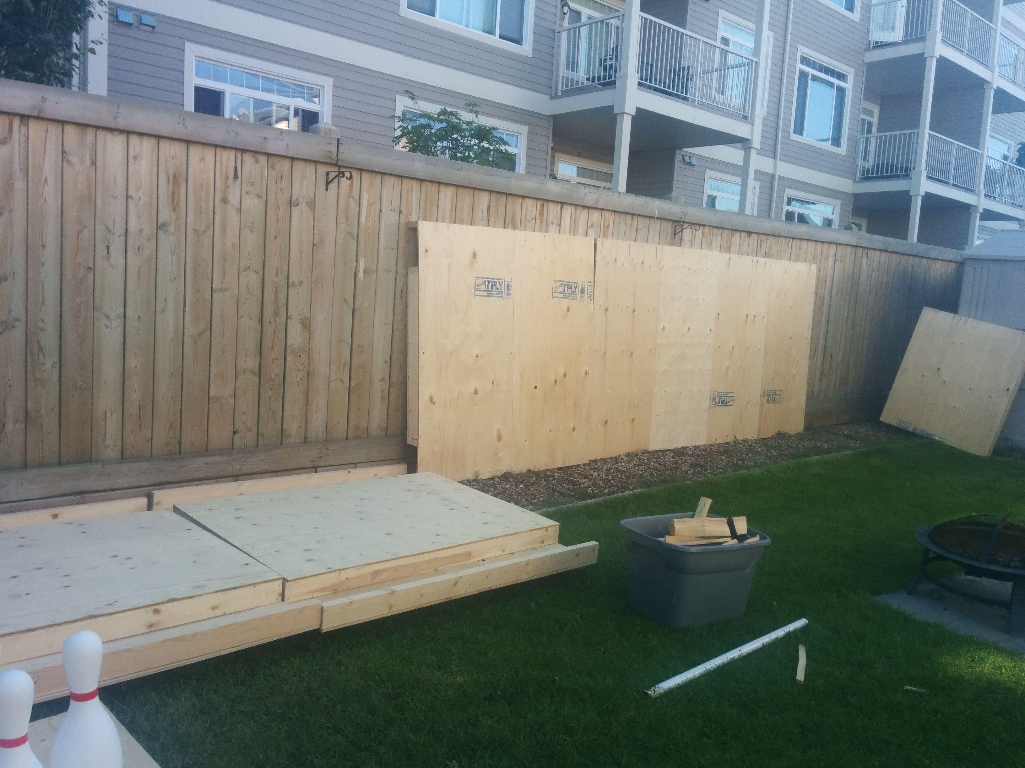 DIY Backyard Bowling Alley | Diy backyard, Backyard ...