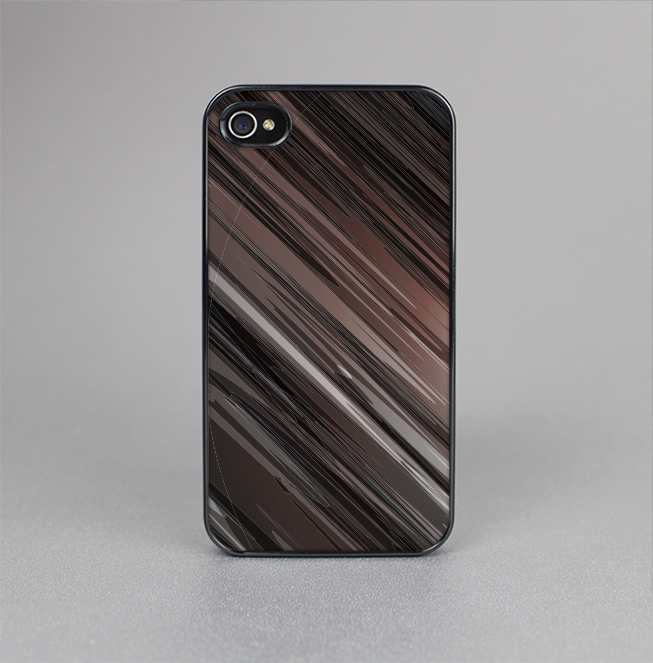 The Shiny Brown Highlighted Line-Surface Skin-Sert for the Apple iPhone 4-4s Skin-Sert Case
