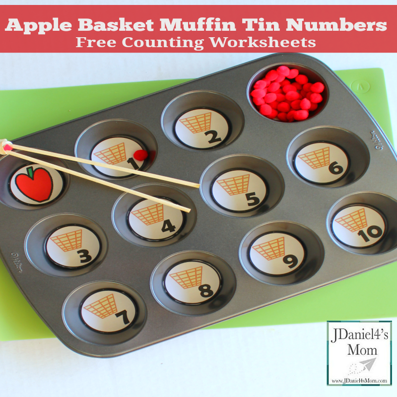 free counting worksheets apple basket muffin tin numbers counting worksheets apple preschool apple baskets pinterest