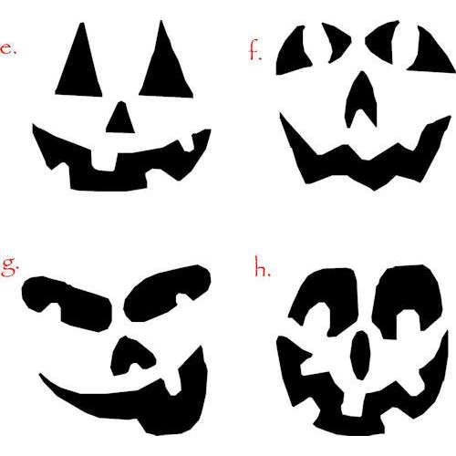 Faces for pumpkins clipart best vinyl projects for Pumpkin carving silhouettes