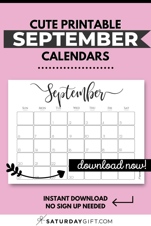 Cute (& Free!) Printable September 2021 Calendar ...