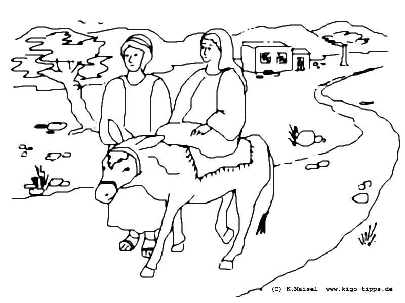 malvorlage reise nach bethlehem  coloring and malvorlagan