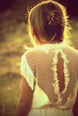 beautiful lace back.