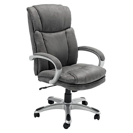 Realspace Microfiber Managerial Chair Gray By Office Depot U0026 OfficeMax