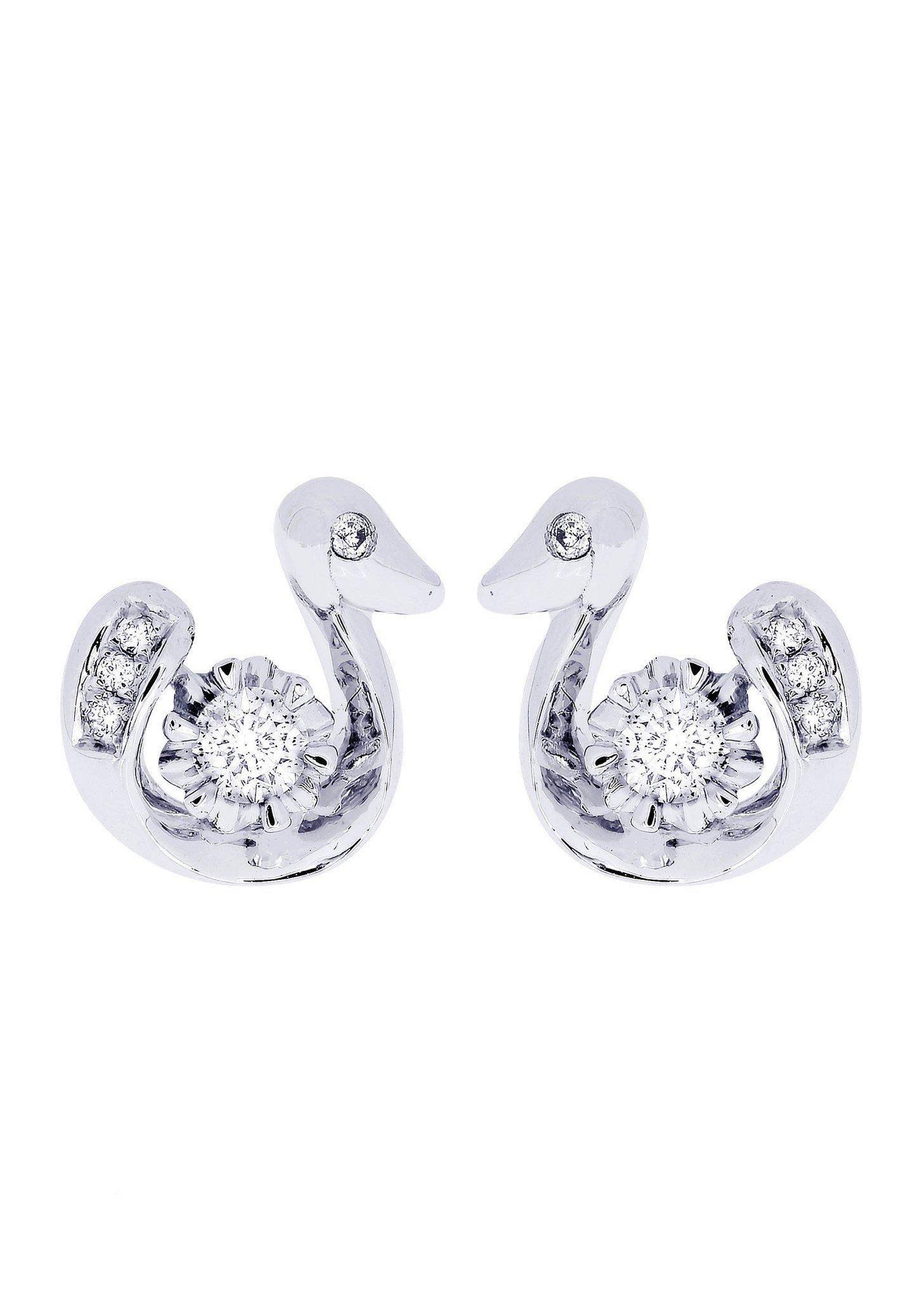 Frostnyc Frost Nyc Swan Diamond Stud Earrings For Men 14k White Gold 0 28