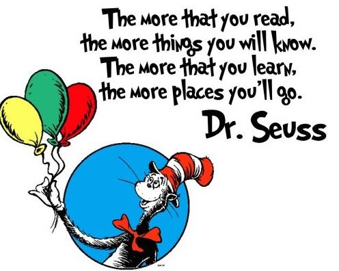 Image result for dr seuss reading  images