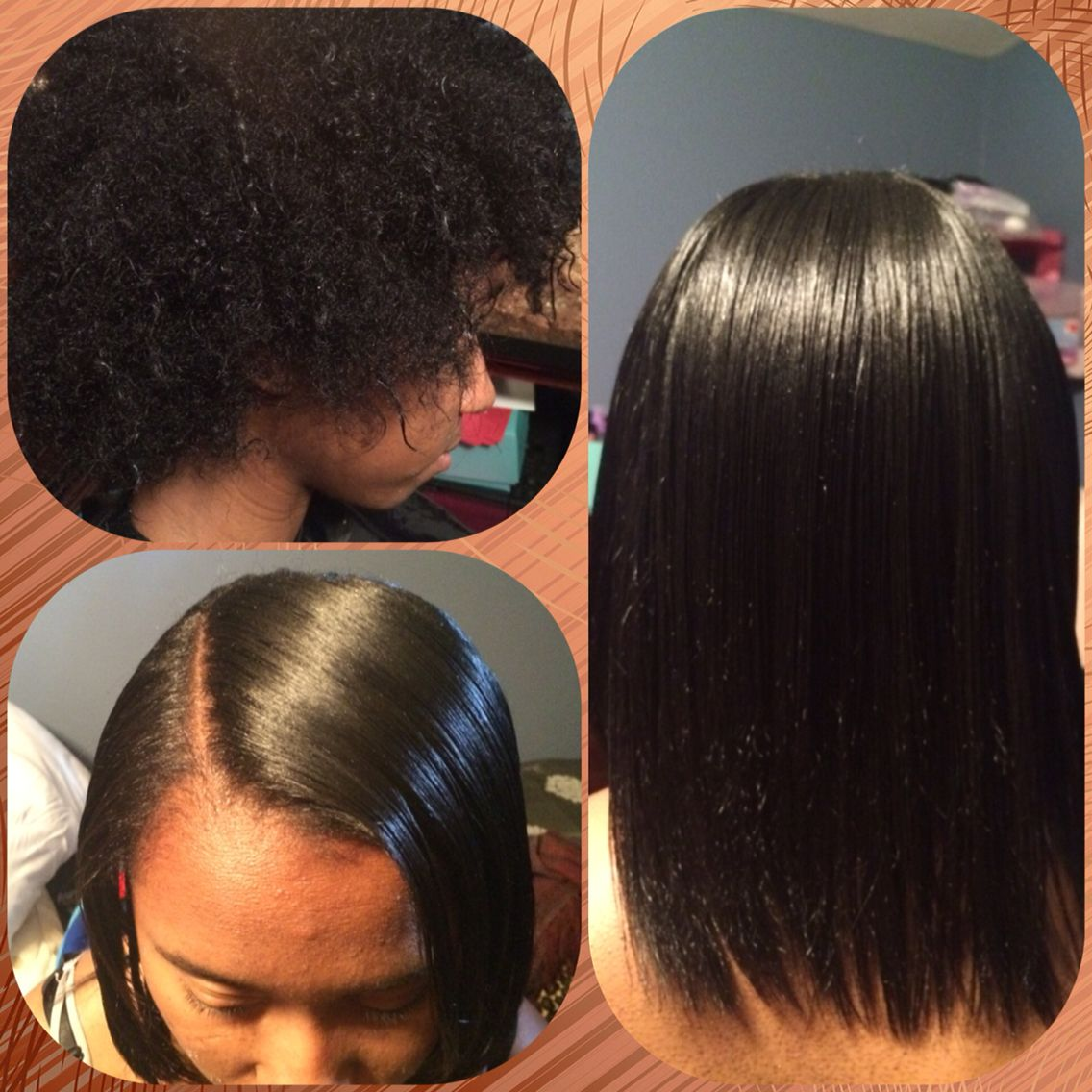 Silk Press Using Nume In Vogue Flat Iron Minimum Products Healthy Hair Pressed Natural Hair Natural Hair Styles Silk Press Natural Hair