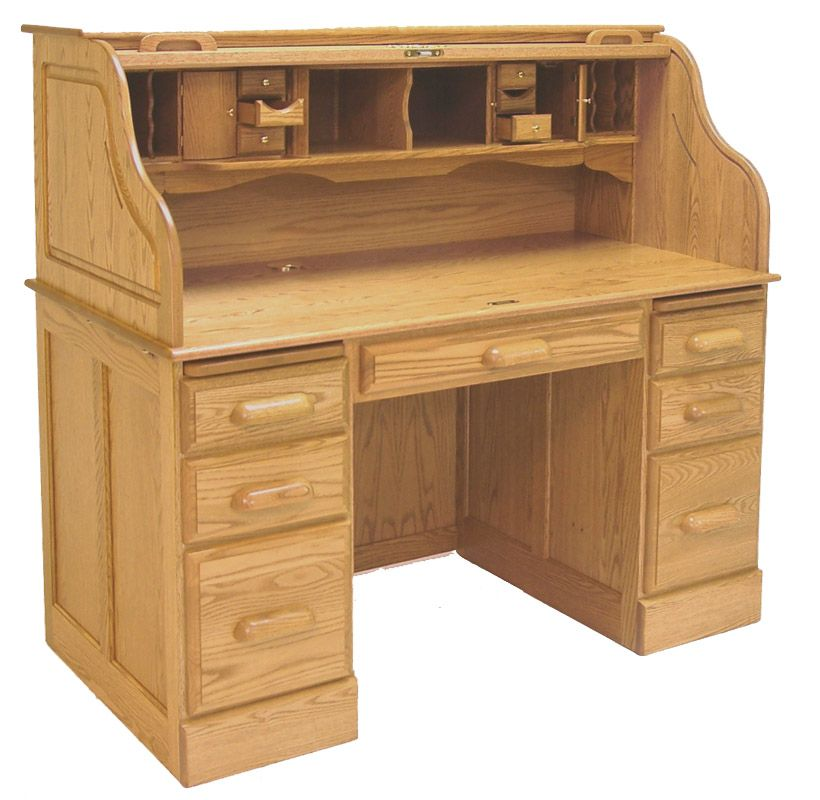 Oak Desk Ideas Cleaning Challenge Storage Compartments Hanging Files Office Furniture Diy Solid Fleas