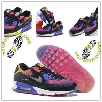 Nouveaux produits 02e43 b5a48 Montante | Nike Chaussure Sport Air Max 90 Femme Pourpre ...