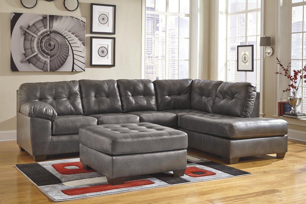 Best Alliston Durablend Contemporary Gray Color Faux Leather 400 x 300