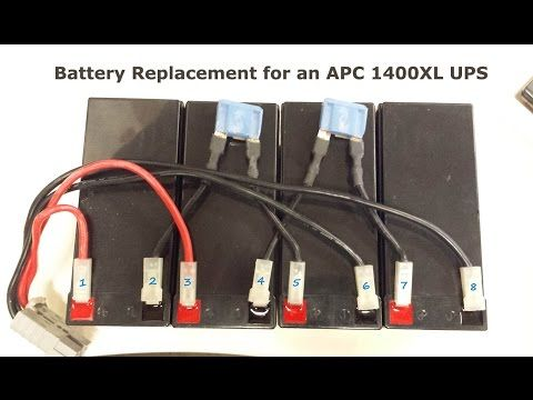 How To Replace The Batteries On An Apc 1400xl Ups And Save Yourself Some Money Apc Ups Apc Smart Ups