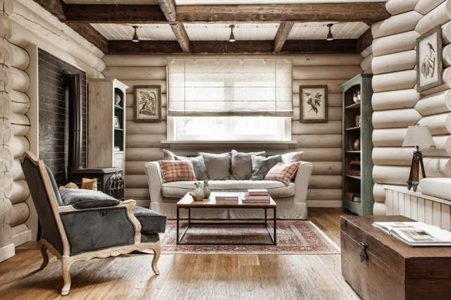 An elegant log cabin by id interior also christmas design pinterest rh