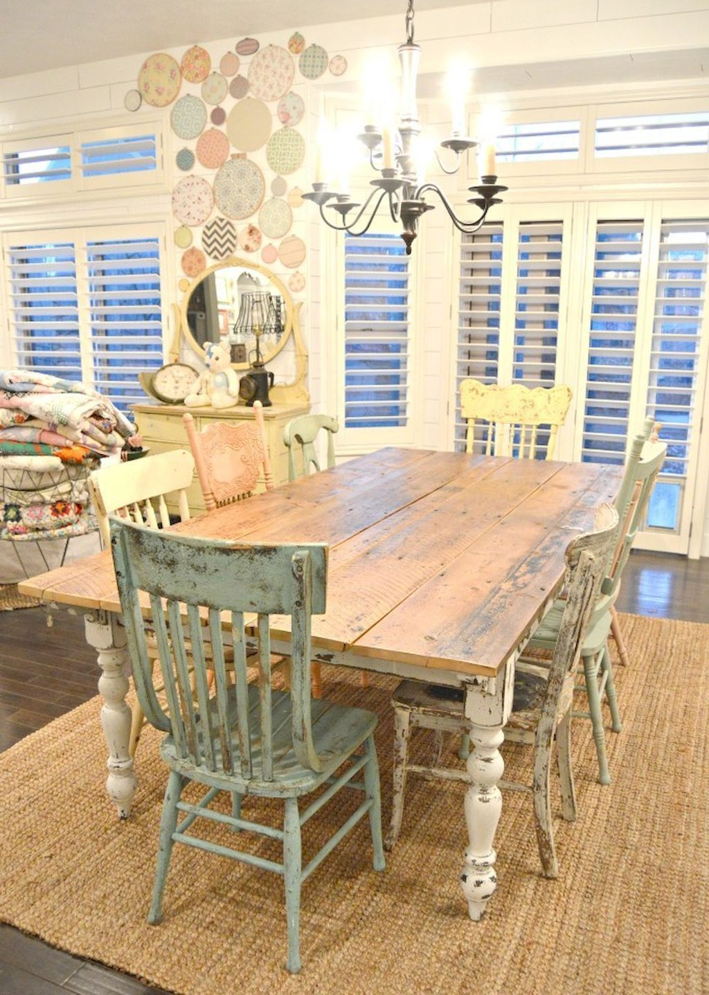 Pin By Calvien Decor On Dining Room In 2019 Farm Style Table Diy