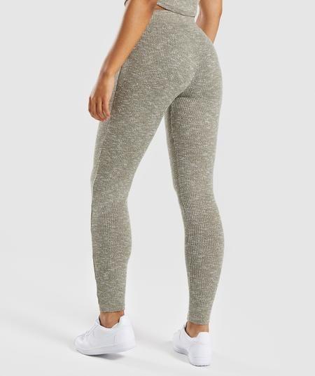 72b36bd87c467 Gymshark Slounge Leggings - Washed Khaki Marl | Clothing | Womens ...