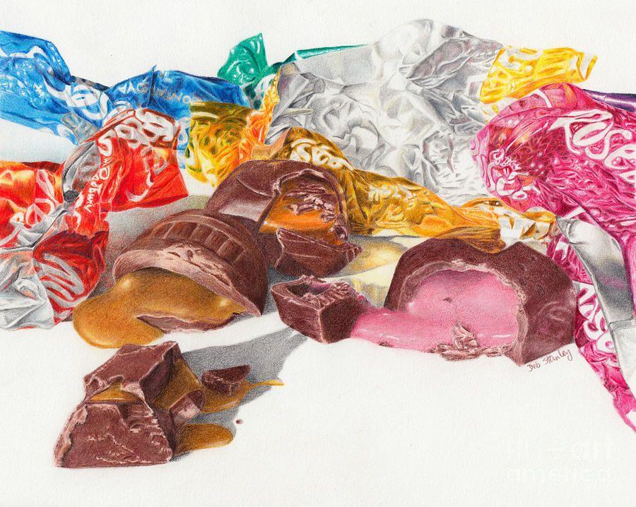 Chocolates Drawing | Sweets art, Chocolate art, Chocolate ...