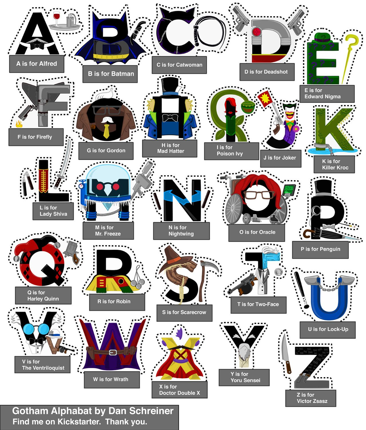 J8kes Gotham Alphabet Print Cut Out And Play With Our Mk