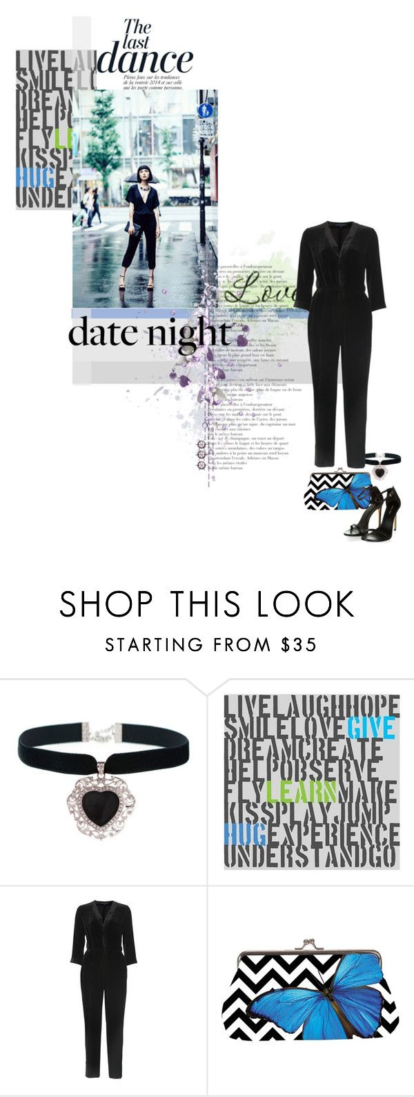 """""""The last dance"""" by no-where-girl ❤ liked on Polyvore featuring Rock 'N Rose, Green Leaf Art, Anja, French Connection and DateNight"""
