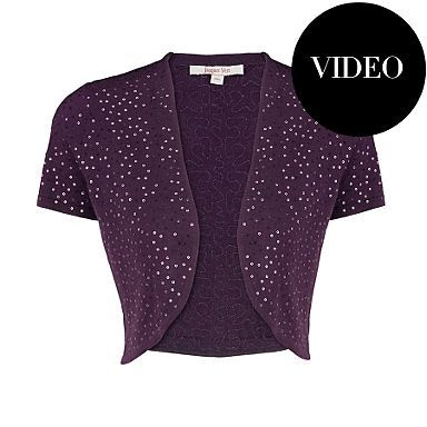 This is a lovely wintery colour and would look nice over a v necked black dress £49.00 Debenhams