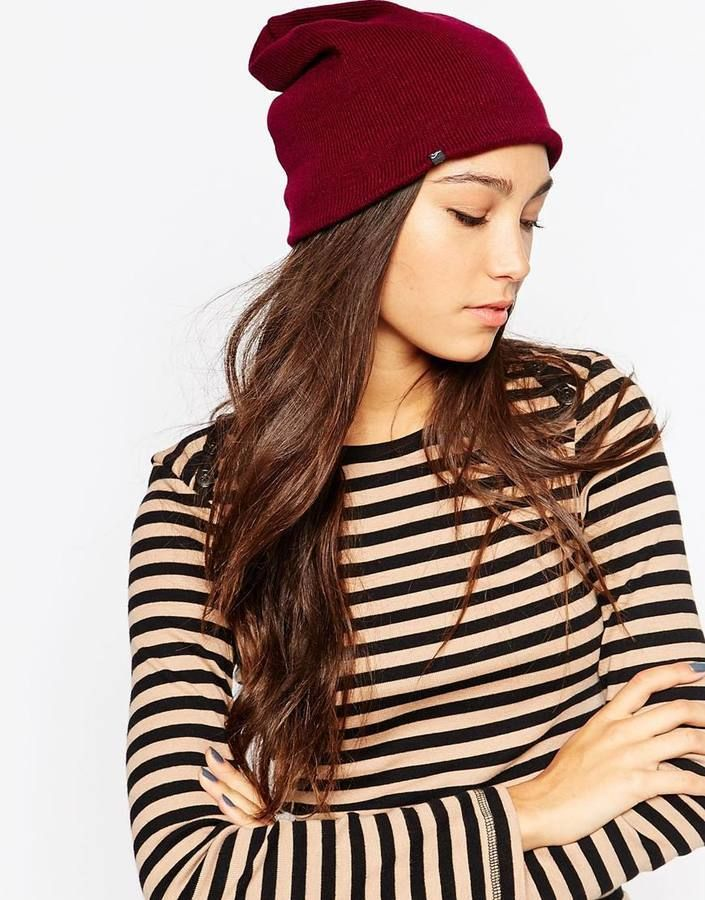 $57, Plush Fleece Lined Beanie Hat. Sold by Asos. Click for more info: https://lookastic.com/women/shop_items/343694/redirect