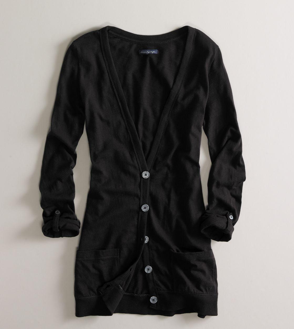Long black cardigan | Clothing | Pinterest | Long black, Boyfriend ...