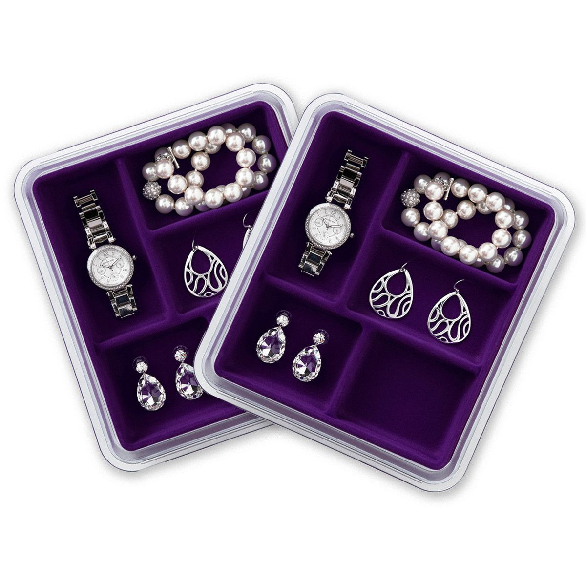 Fab.com | Jewelry Stax 5-Space Pair Prpl