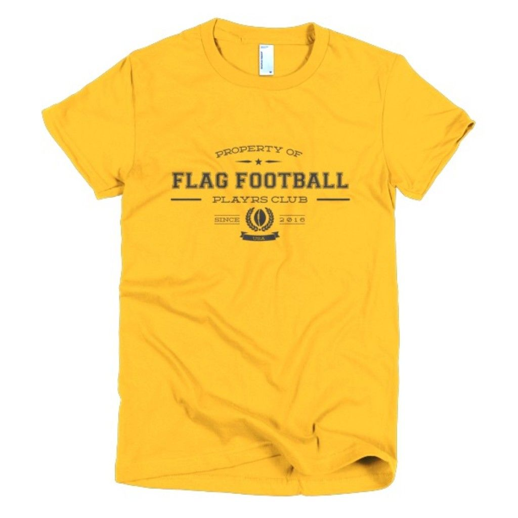 PLAYRS Club Women's Flag Football T-Shirt – Dark