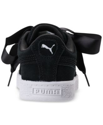 Puma Little Girls  Suede Heart Casual Sneakers from Finish Line - Black 12 a243d8b40