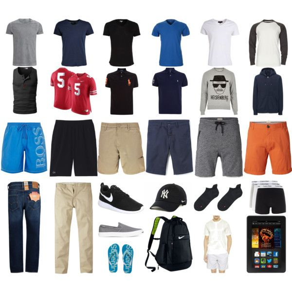 2015 boys summer packing list by marcuajim on Polyvore featuring Carhartt, Uniqlo, NIKE, Superdry, Converse, Lacoste, Levi's, SELECTED, BOSS Green and Polo Ralph Lauren