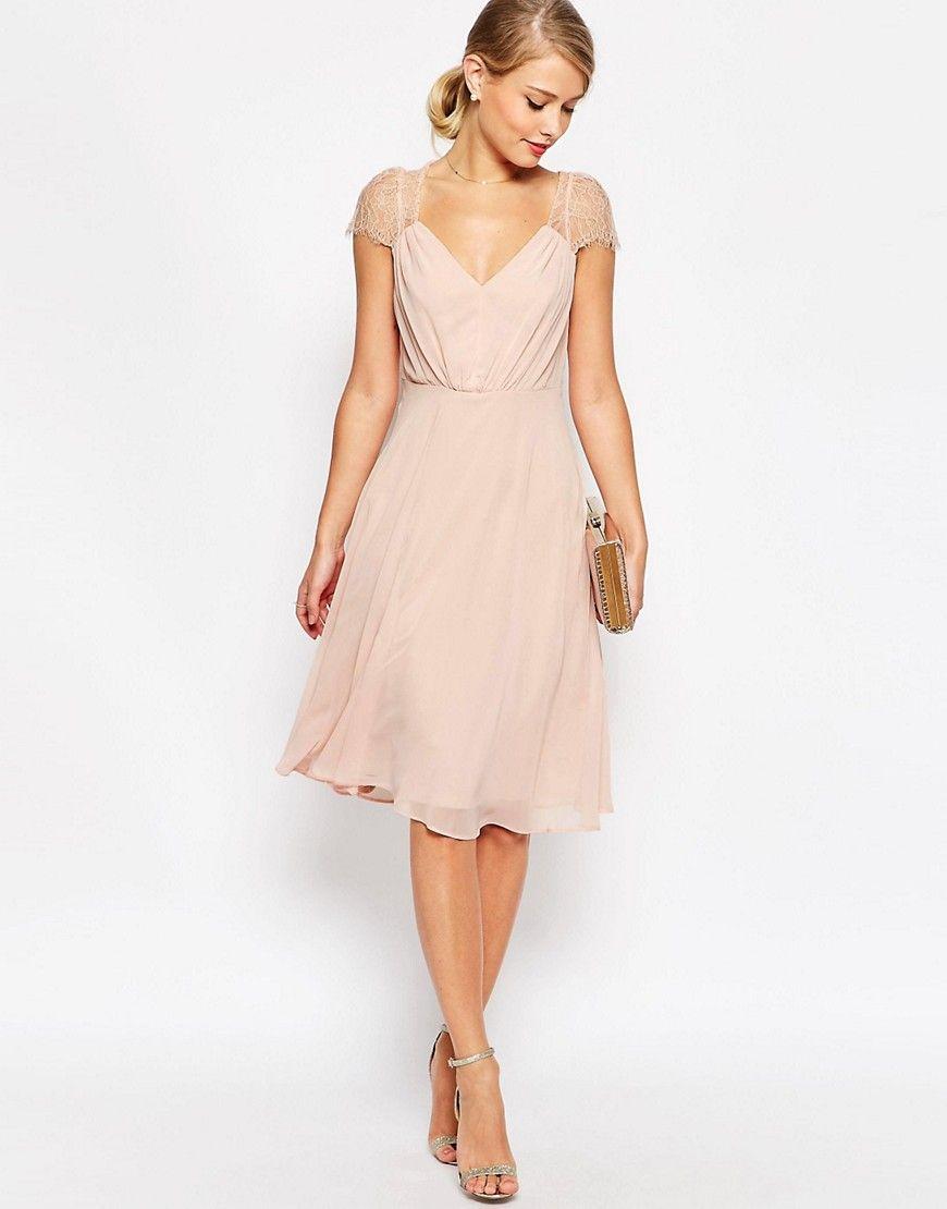Kate Lace Midi Dress  Schöne kleider, Spitzenkleider, Abendkleid