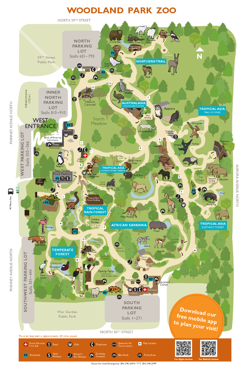 Woodland Park Zoo Map Woodland Park Zoo Zoo Map Woodland Park