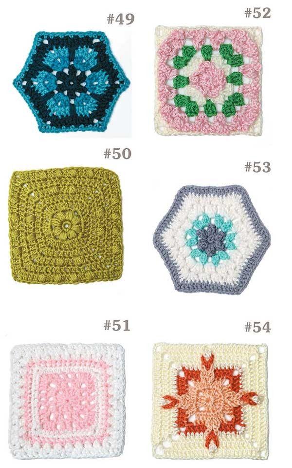 99 Granny Squares to Crochet | Cuadrados