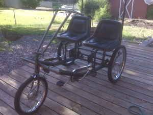 2 PERSON SIDE BY SIDE 3 WHEEL BIKE selling used $550