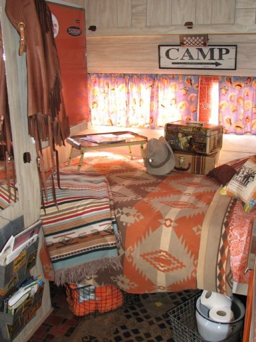 Western Decor In Vintage Trailer
