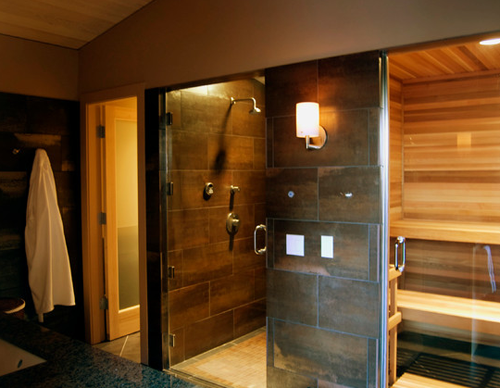 New Year New You 10 Awesome Home Gyms Home Gym Design Sauna Design Sauna Shower